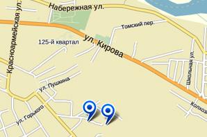 Расположение гостиницы